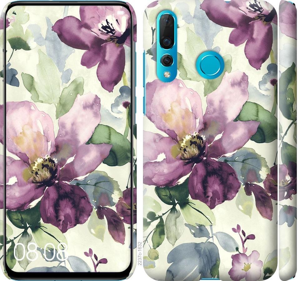 Чехол на Huawei Nova 4 Цветы акварелью