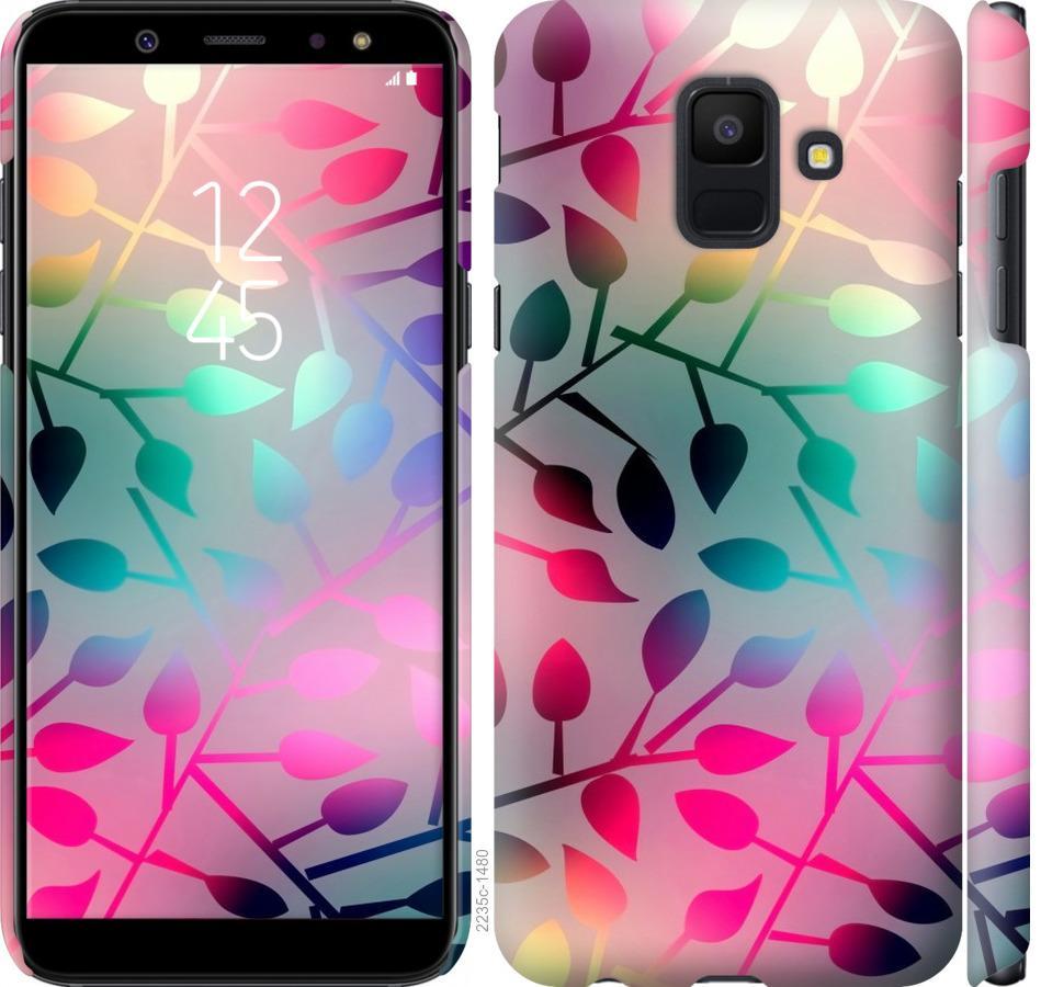 Чехол на Samsung Galaxy A6 2018 Листья
