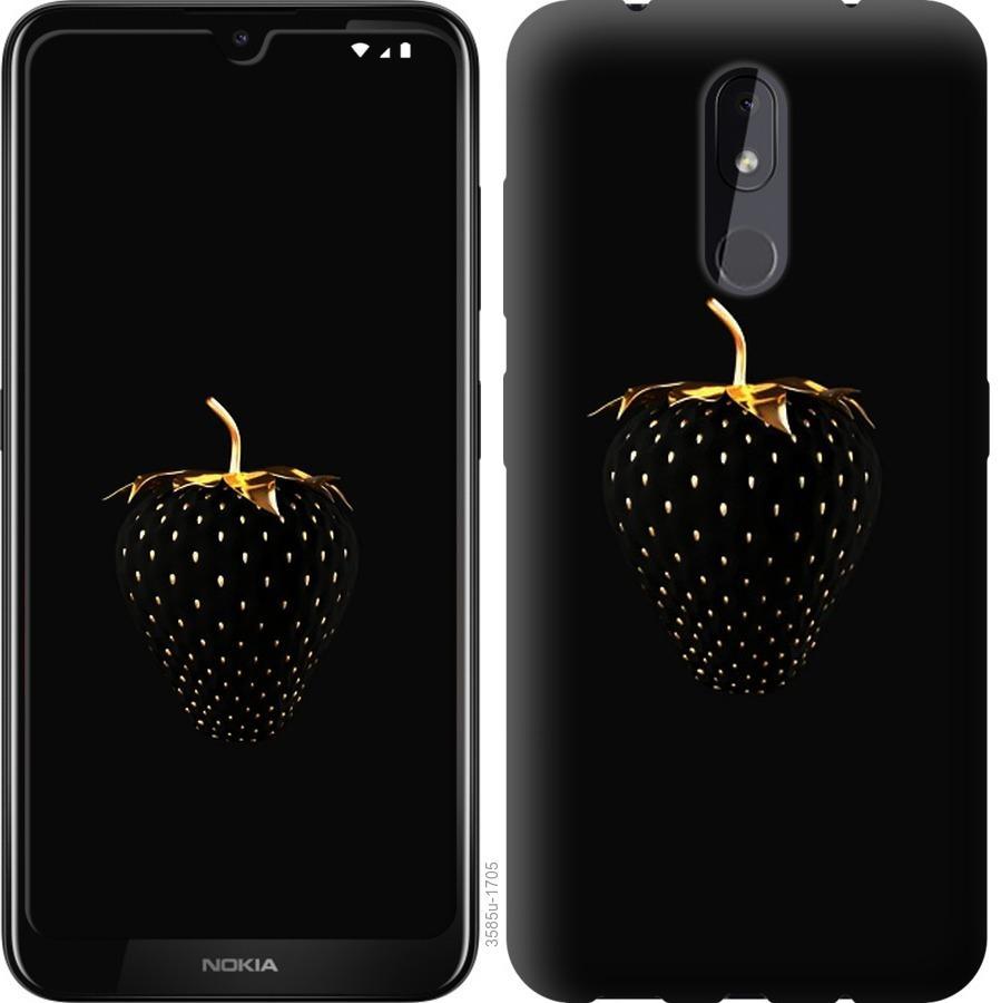 Чехол на Nokia 3.2 Черная клубника