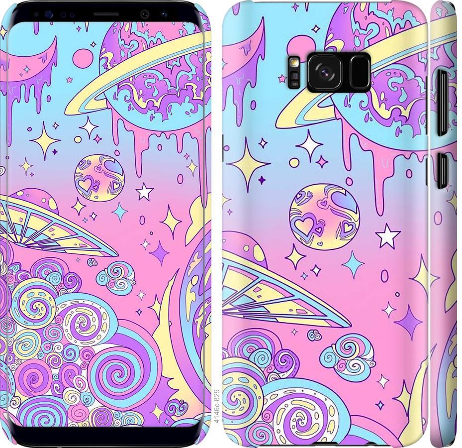Чехол на Samsung Galaxy S8 Розовая галактика