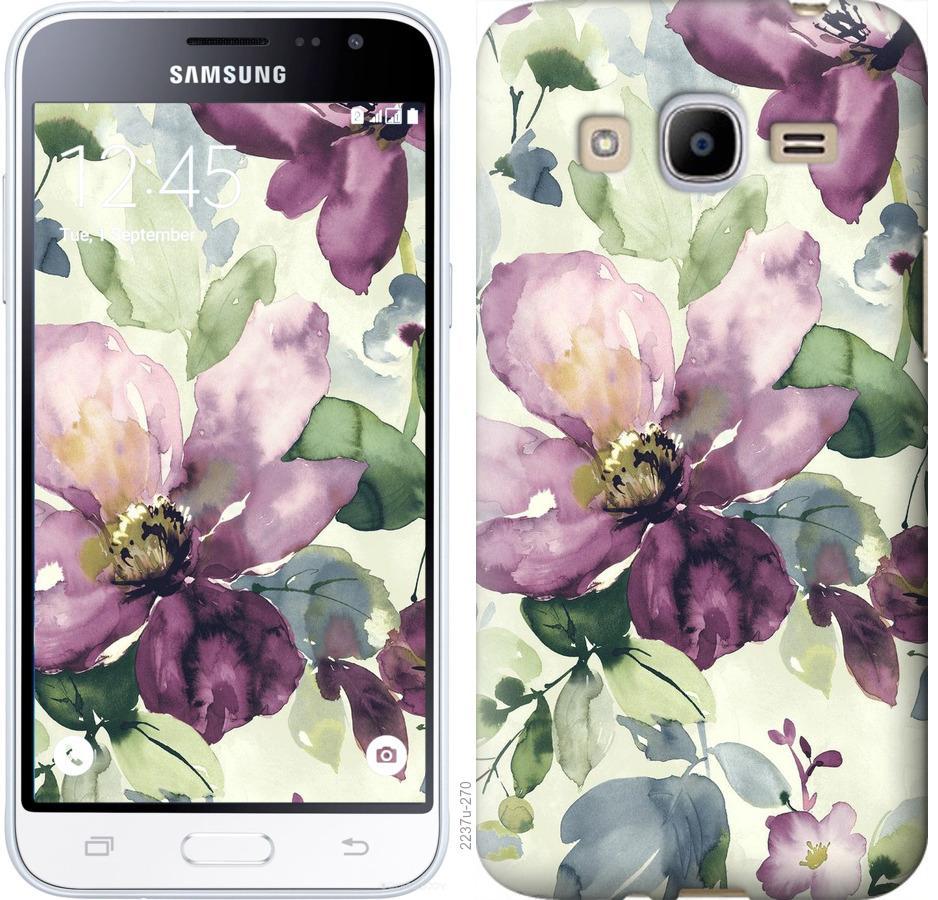 Чехол на Samsung Galaxy J2 (2016) J210 Цветы акварелью