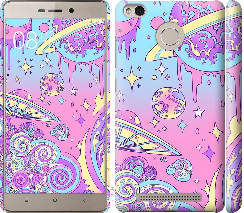 Чехол на Xiaomi Redmi 3s Розовая галактика