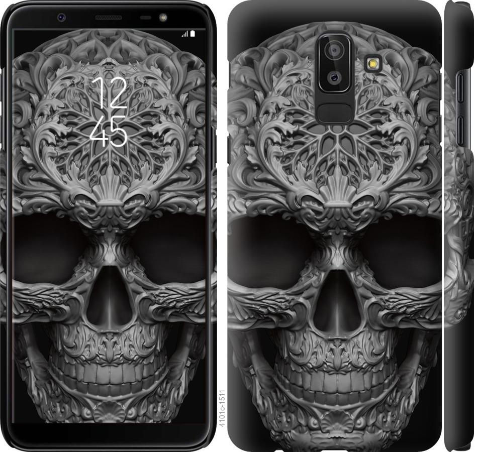 Чехол на Samsung Galaxy J8 2018 skull-ornament