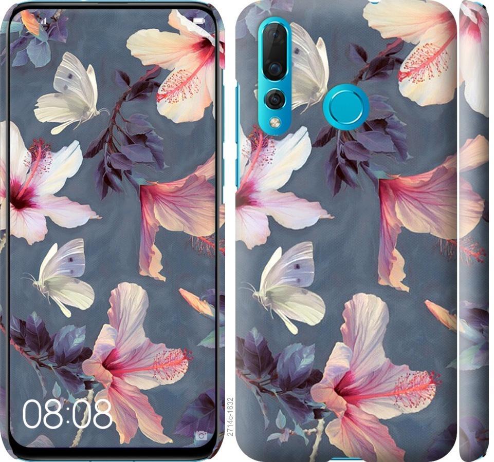 Чехол на Huawei Nova 4 Нарисованные цветы