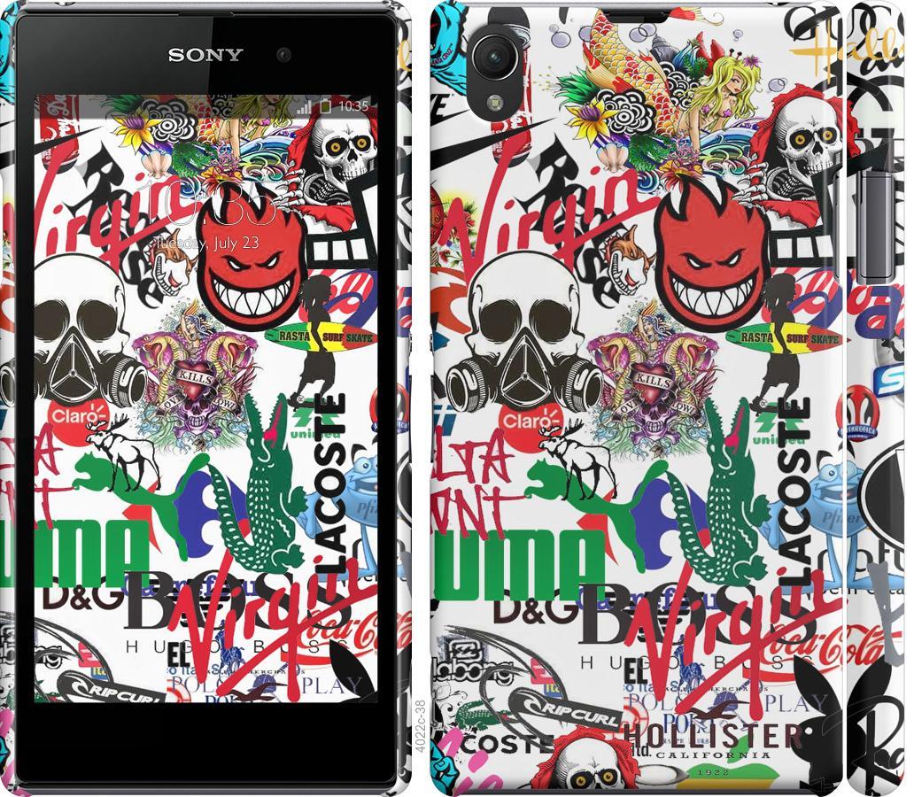 Чехол на Sony Xperia Z1 C6902 Many different logos