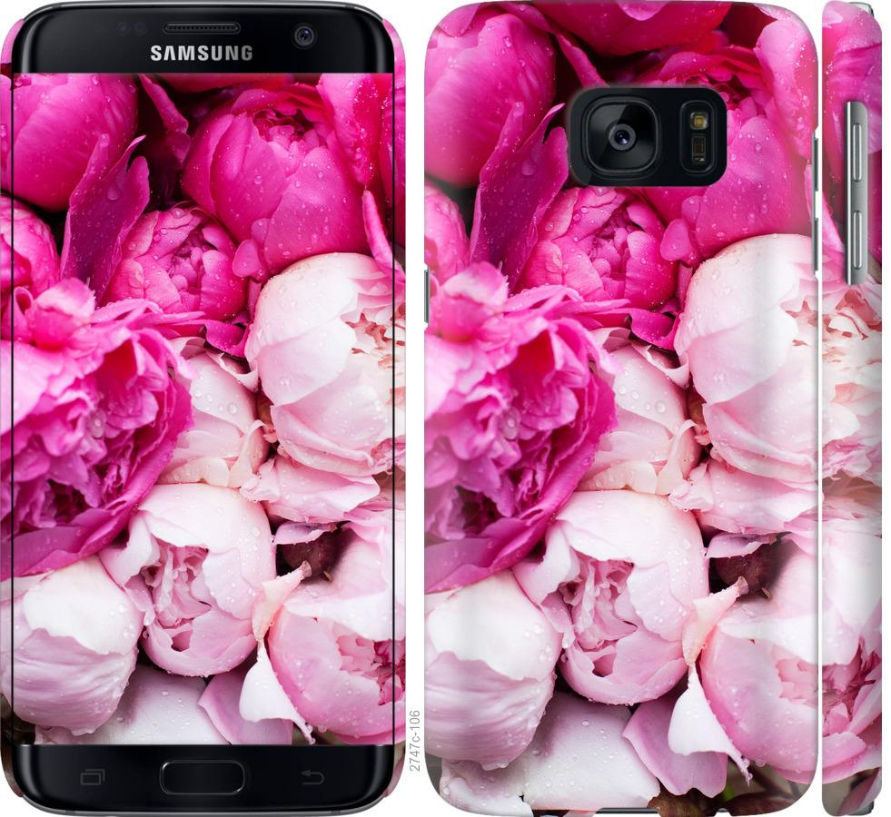 Чехол на Samsung Galaxy S7 G930F Розовые пионы