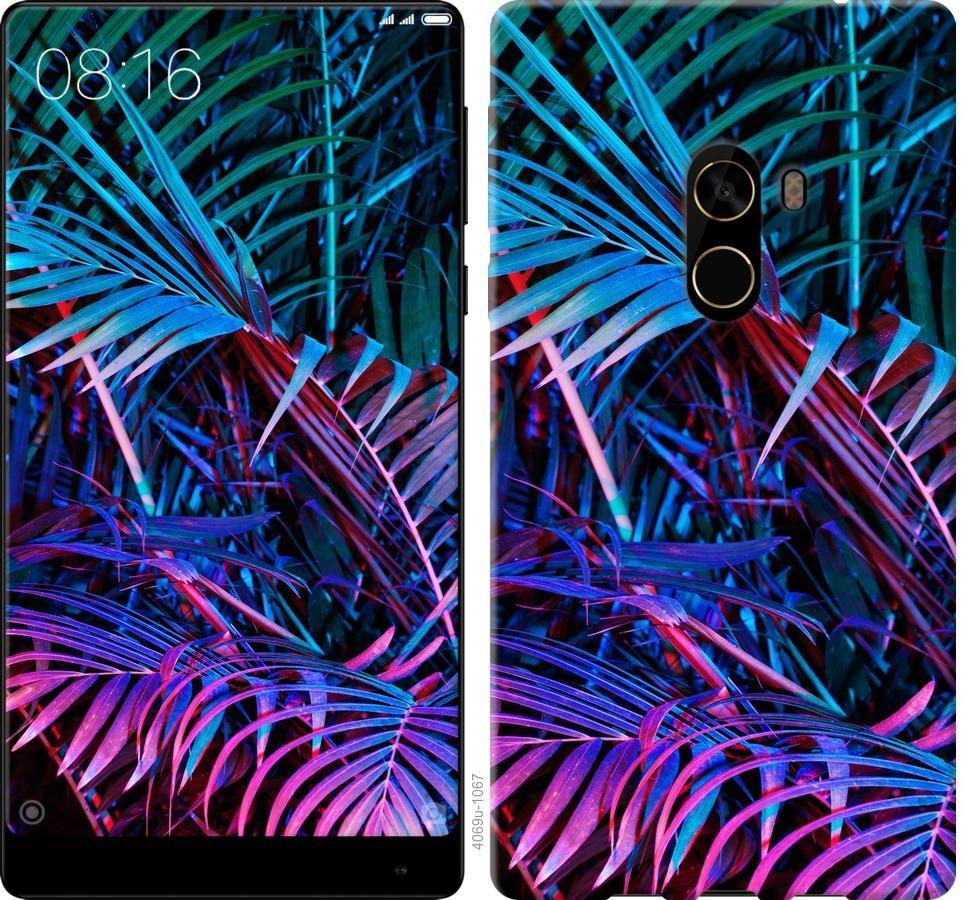 Чехол на Xiaomi Mi MiX 2 Папоротник под ультрафиолетом