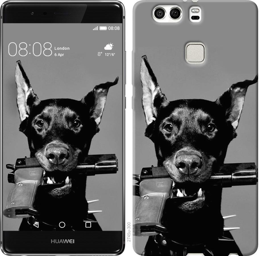 Чехол на Huawei P9 Plus Доберман