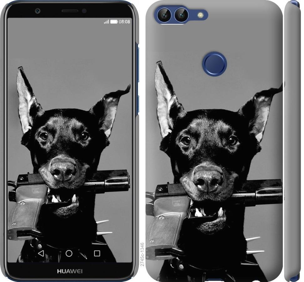 Чехол на Huawei P Smart Доберман