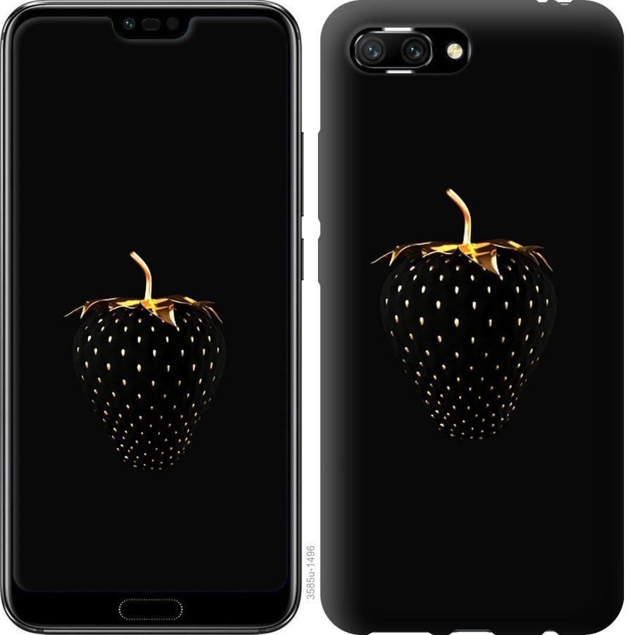 Чехол на Huawei Honor 10 Черная клубника