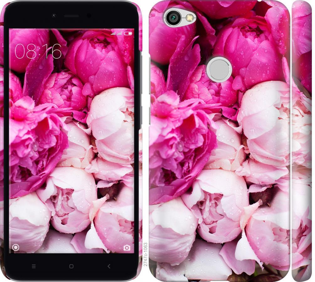 Чехол на Xiaomi Redmi Note 5A Prime Розовые пионы
