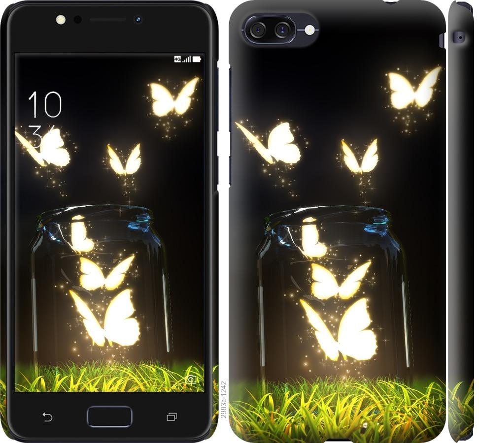 Чехол на Asus ZenFone 4 Max ZC554KL Светящиеся бабочки