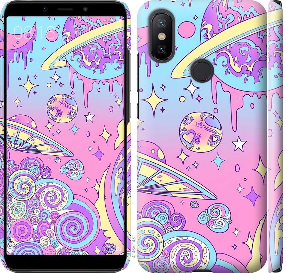 Чехол на Xiaomi Mi A2 Розовая галактика
