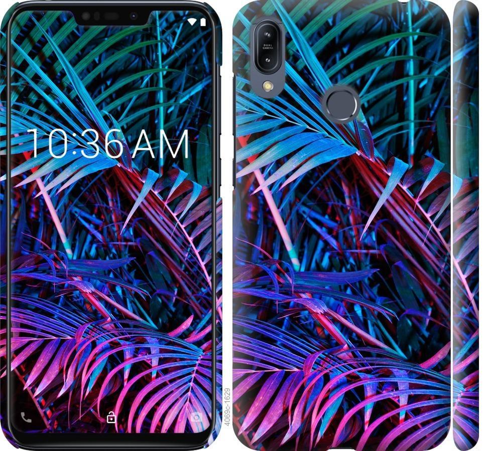 Чехол на Asus Zenfone Max M2 ZB633KL Папоротник под ультрафиолетом