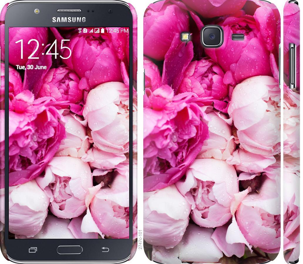 Чехол на Samsung Galaxy J7 J700H Розовые пионы
