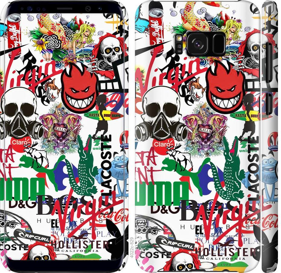 Чехол на Samsung Galaxy S8 Many different logos
