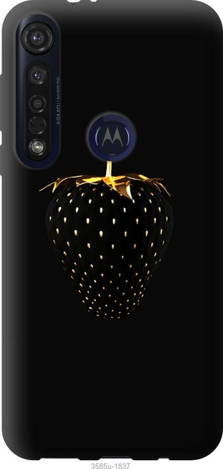 Чехол на Motorola G8 Plus Черная клубника