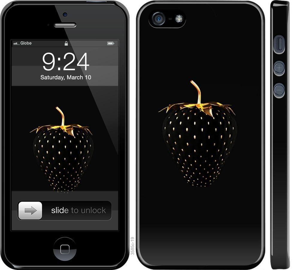 Чехол на iPhone SE Черная клубника