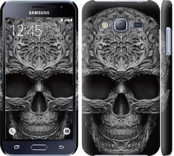 Чехол на Samsung Galaxy J3 Duos (2016) J320H skull-ornament