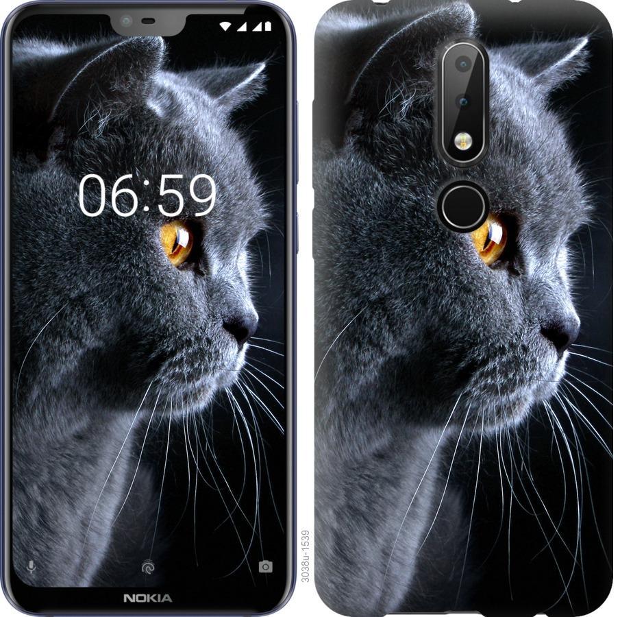 Чехол на Nokia 6.1 Plus Красивый кот