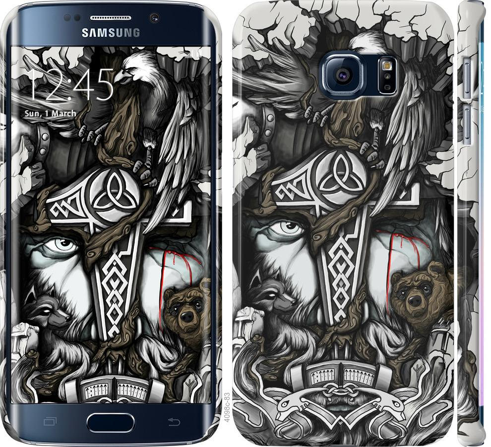 Чехол на Samsung Galaxy S6 Edge G925F Тату Викинг