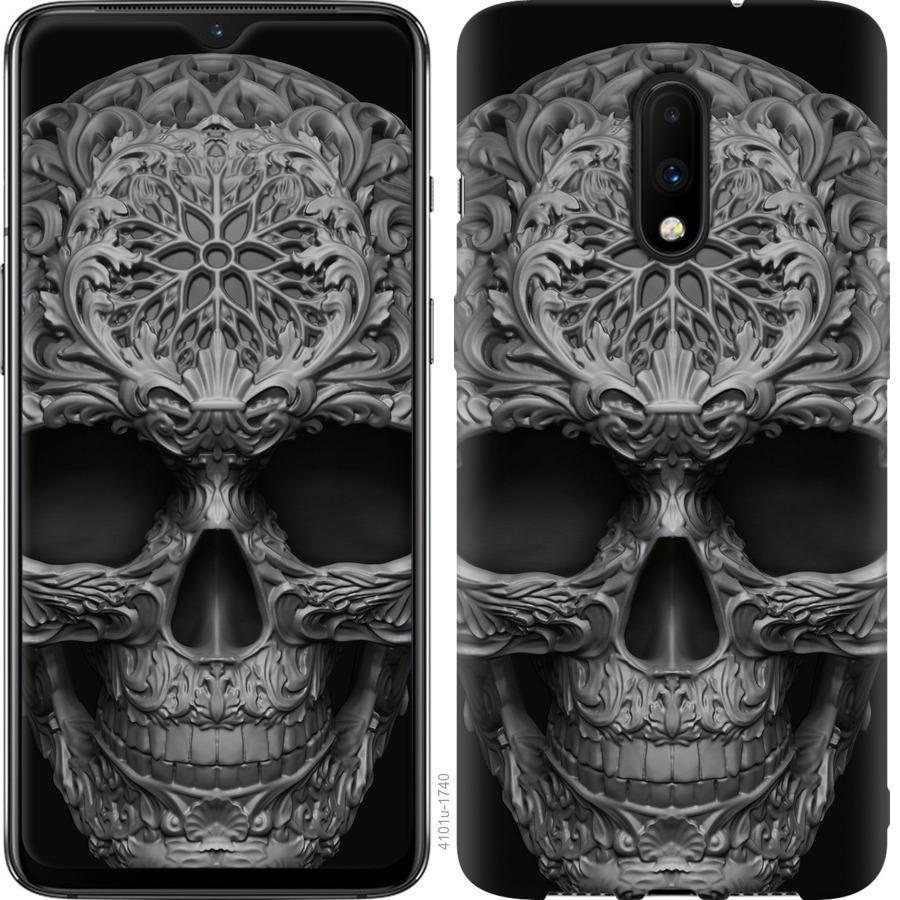 Чехол на OnePlus 7 skull-ornament
