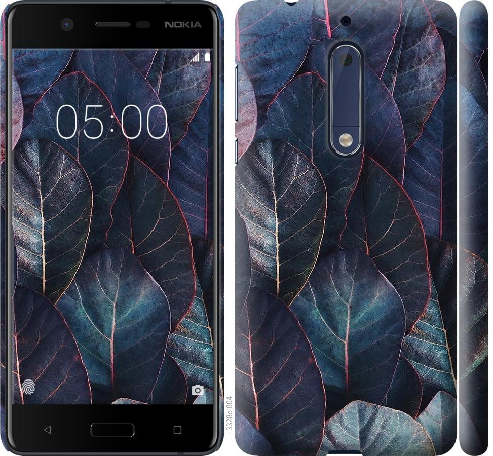 Чехол на Nokia 5 Листья v3