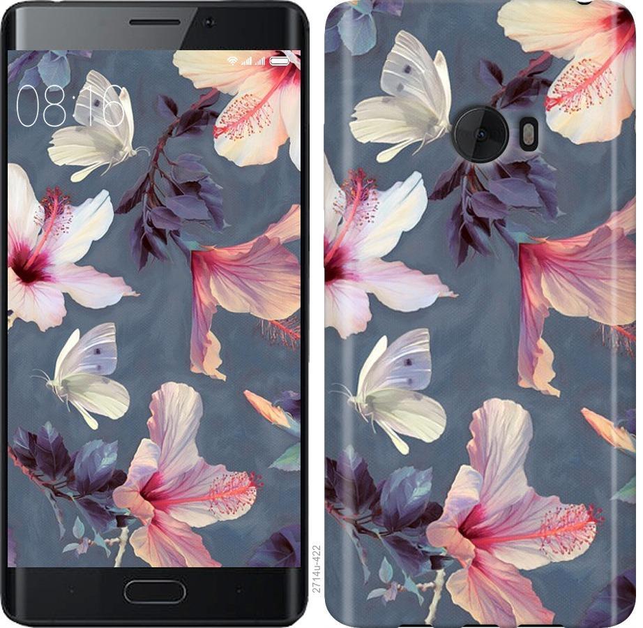 Чехол на Xiaomi Mi Note 2 Нарисованные цветы