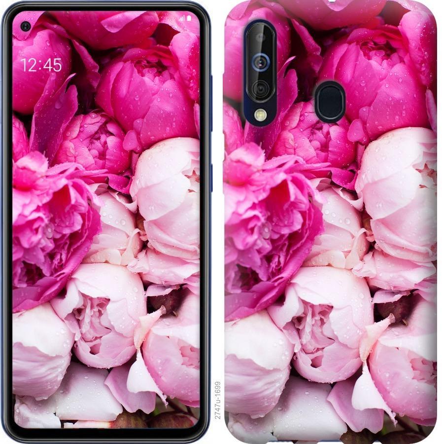 Чехол на Samsung Galaxy A60 2019 A606F Розовые пионы