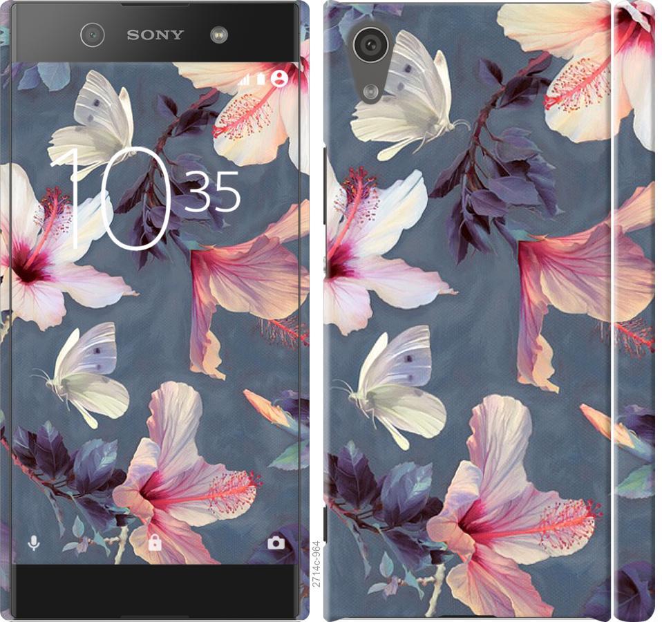 Чехол на Sony Xperia XA1 G3112 Нарисованные цветы