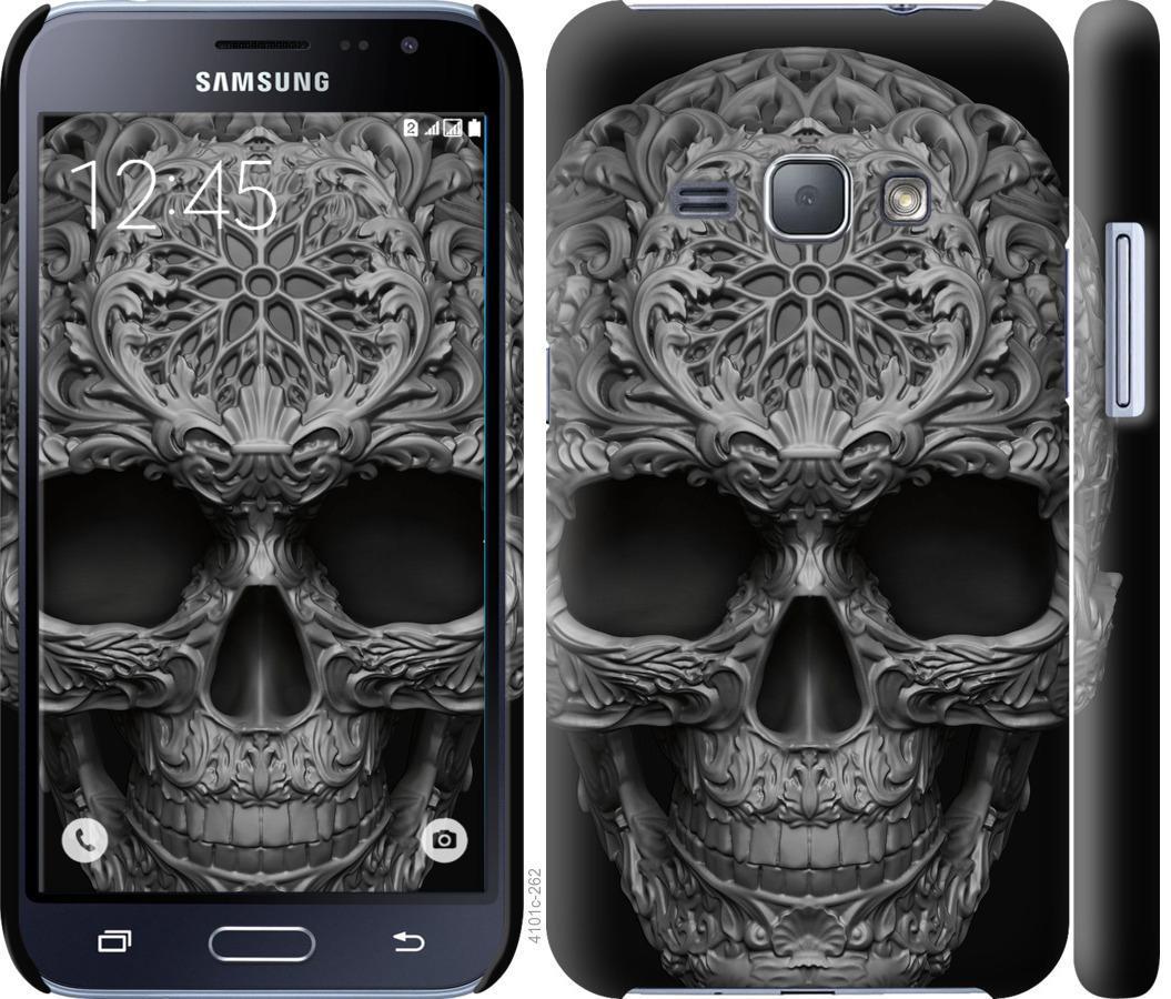 Чехол на Samsung Galaxy J1 (2016) Duos J120H skull-ornament