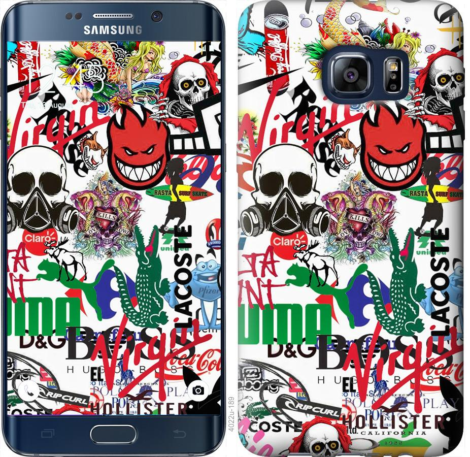 Чехол на Samsung Galaxy S6 Edge Plus G928 Many different logos