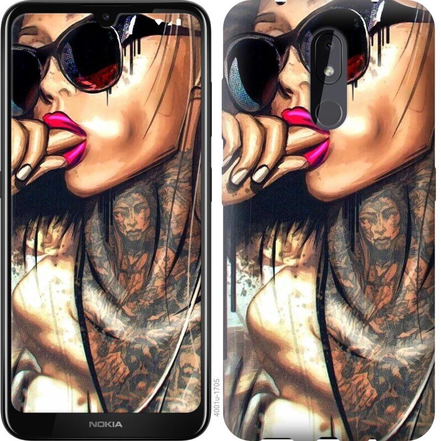 Чехол на Nokia 3.2 Девушка в тату