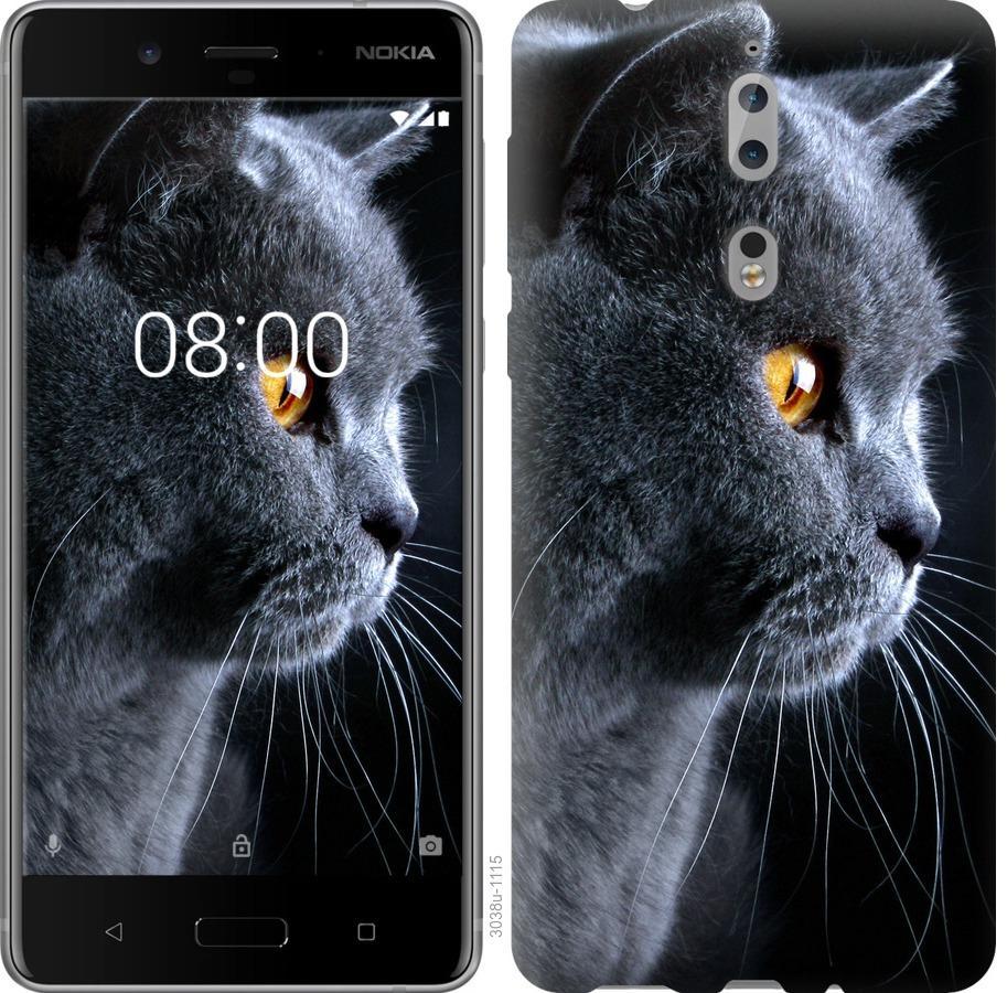 Чехол на Nokia 8 Красивый кот