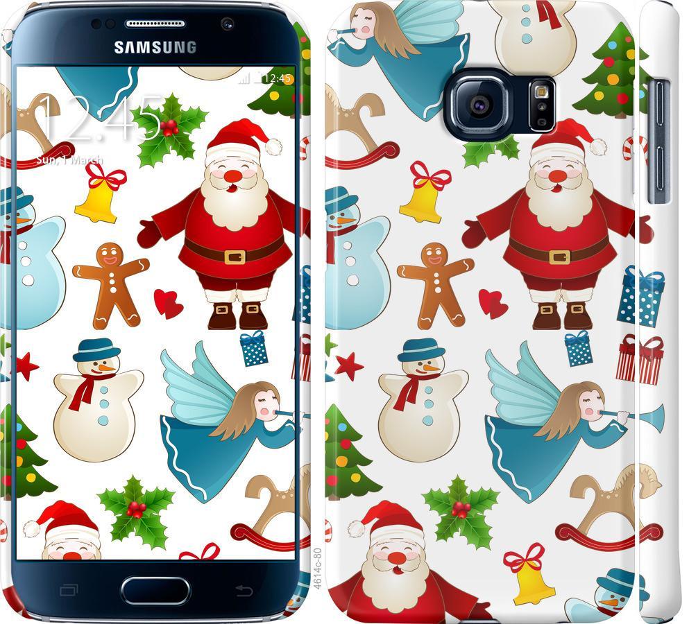 Чехол на Samsung Galaxy S6 G920 Новогодний 1