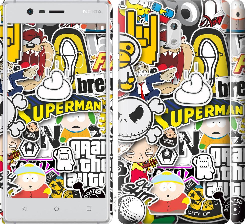 Чехол на Nokia 3 Popular logos