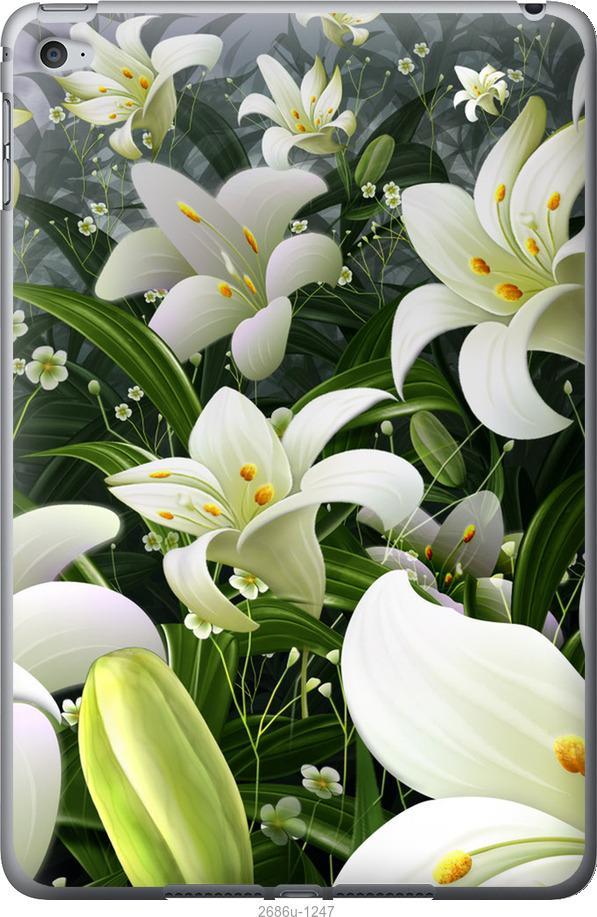 Чехол на iPad mini 4 Белые лилии
