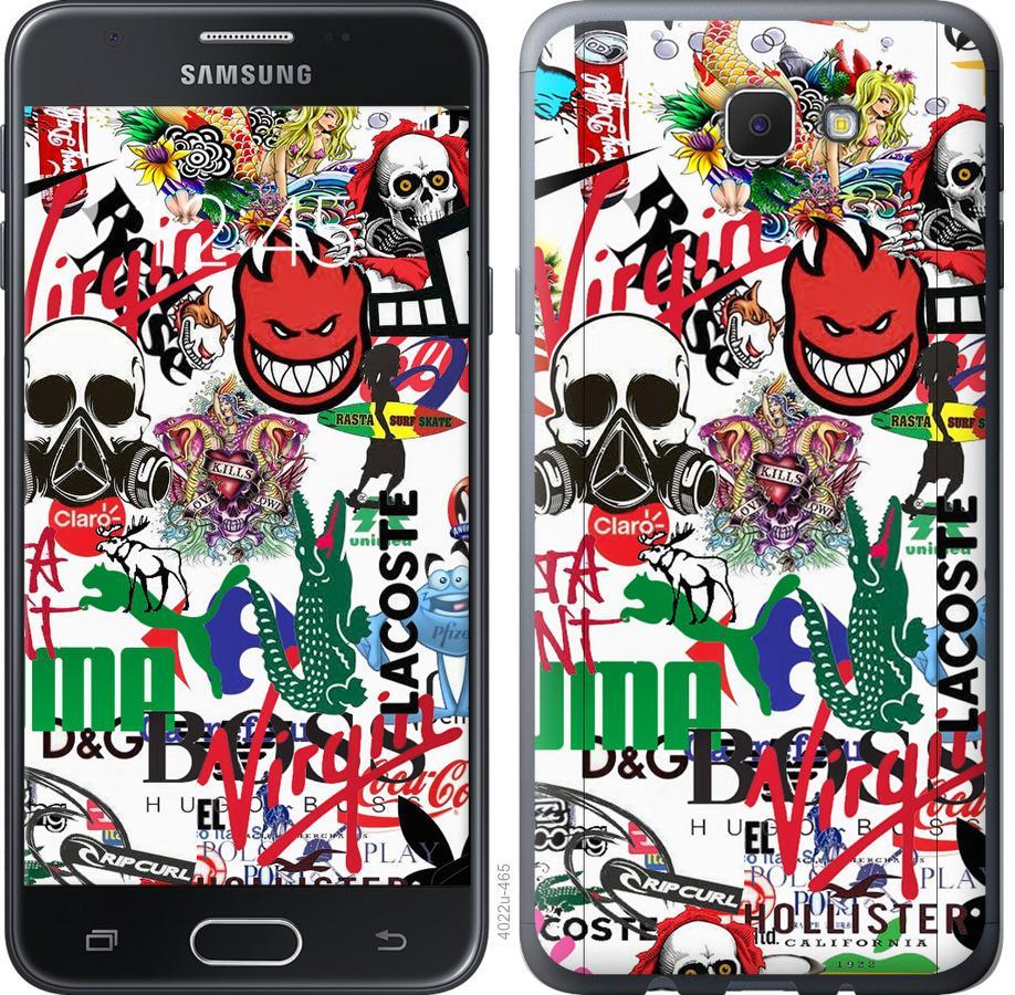 Чехол на Samsung Galaxy J5 Prime Many different logos