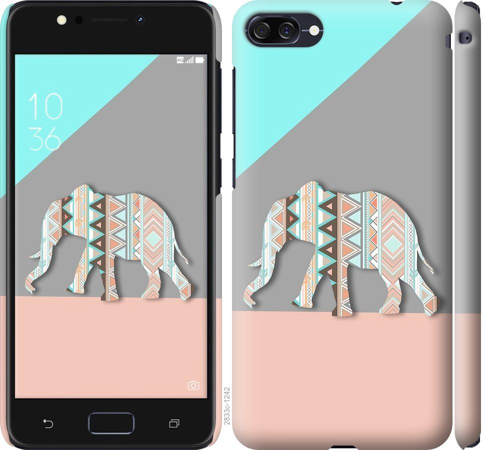 Чехол на Asus ZenFone 4 Max ZC554KL Узорчатый слон