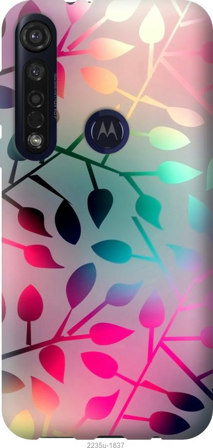 Чехол на Motorola G8 Plus Листья
