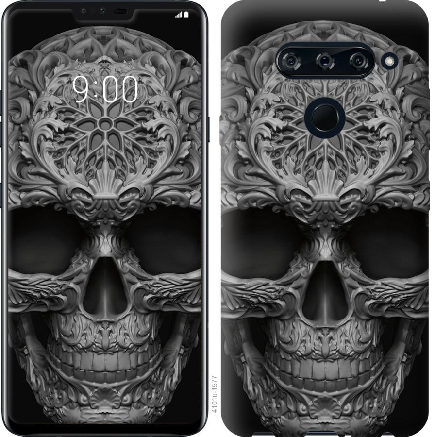 Чехол на LG V40 ThinQ skull-ornament