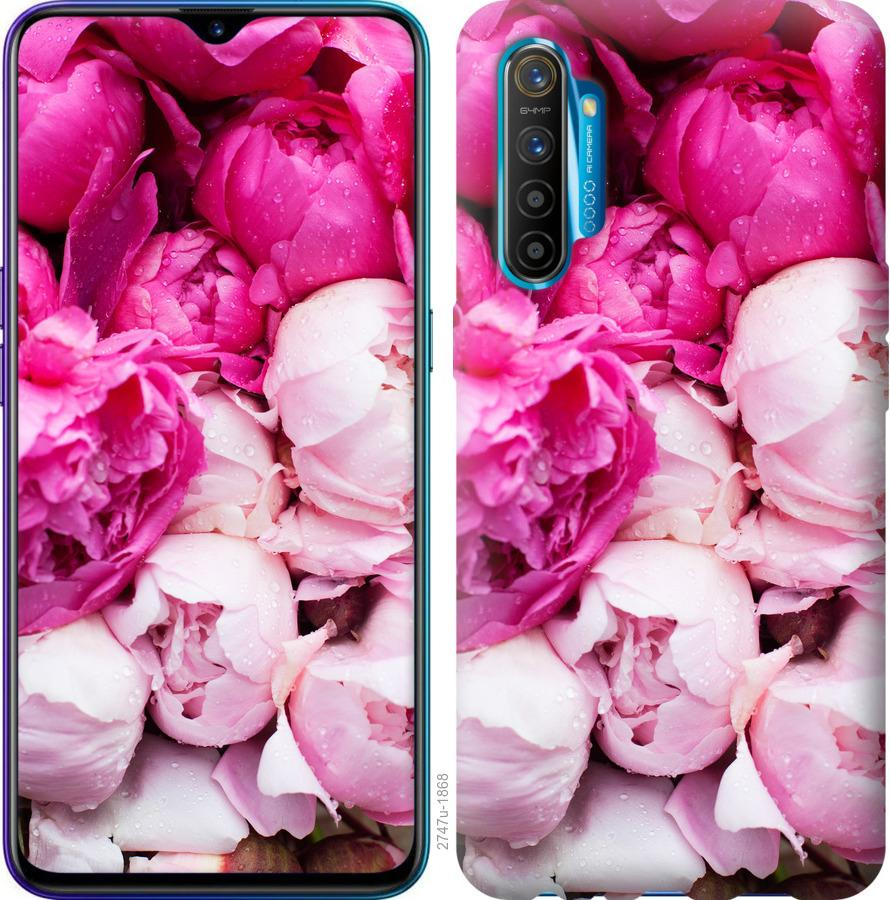 Чехол на Realme XT Розовые пионы