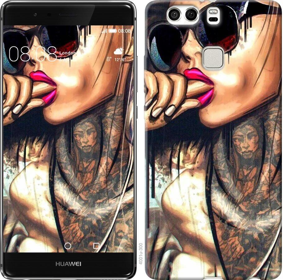 Чехол на Huawei P9 Plus Девушка в тату