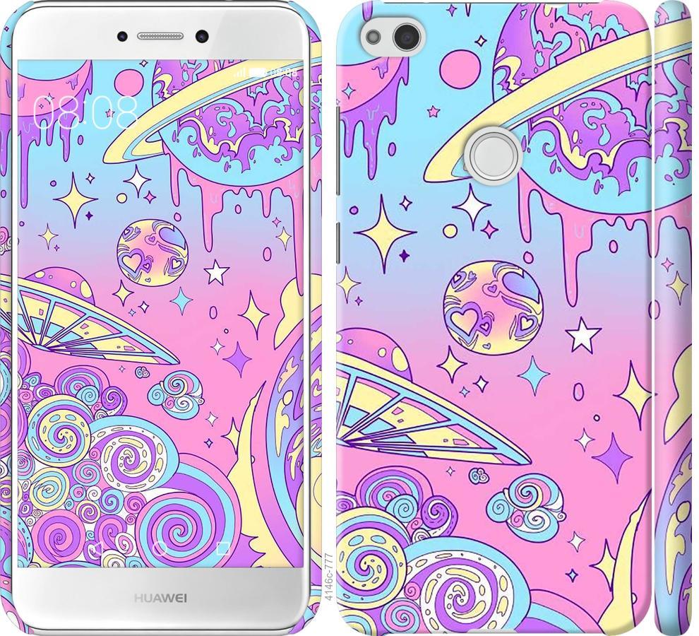 Чехол на Huawei P8 Lite (2017) Розовая галактика