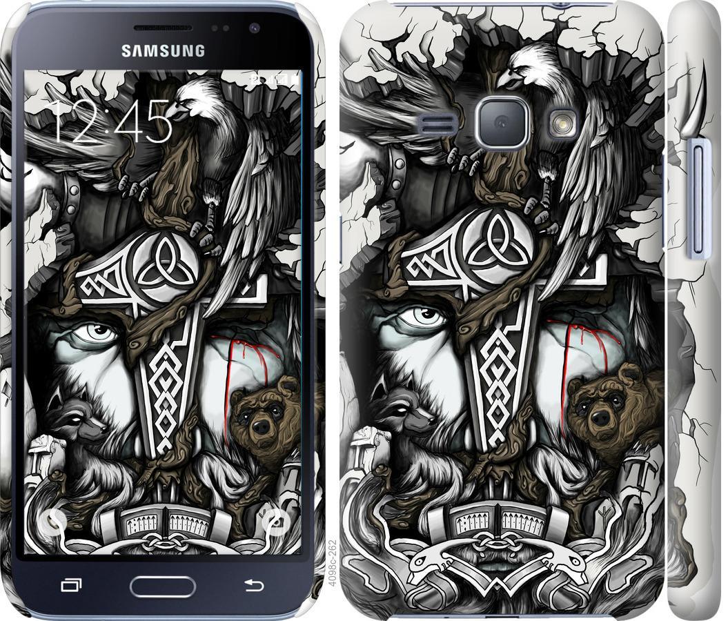 Чехол на Samsung Galaxy J1 (2016) Duos J120H Тату Викинг