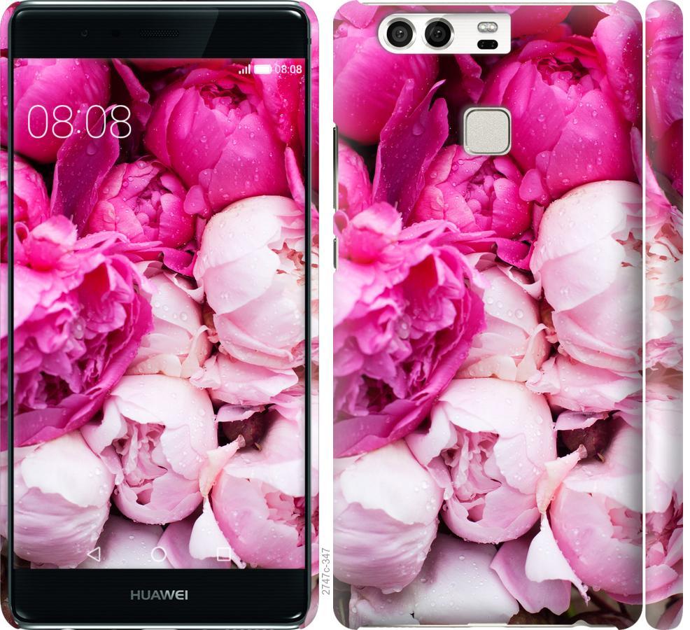 Чехол на Huawei P9 Розовые пионы