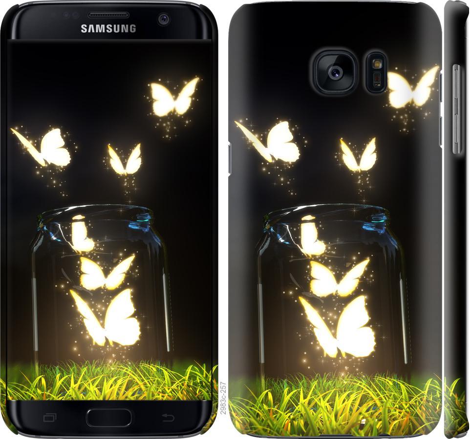 Чохол на Samsung Galaxy S7 Edge G935F  Сяючі метелики