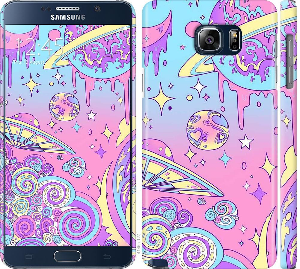 Чехол на Samsung Galaxy Note 5 N920C Розовая галактика