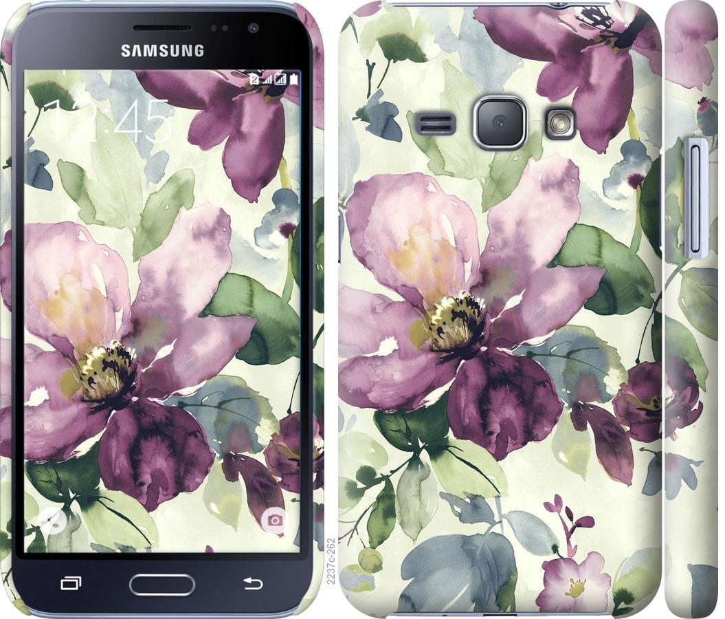 Чехол на Samsung Galaxy J1 (2016) Duos J120H Цветы акварелью
