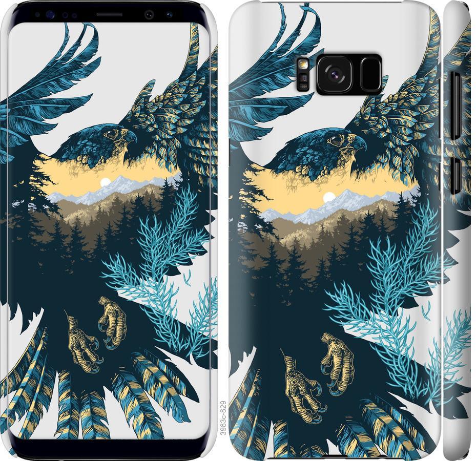 Чехол на Samsung Galaxy S8 Арт-орел на фоне природы